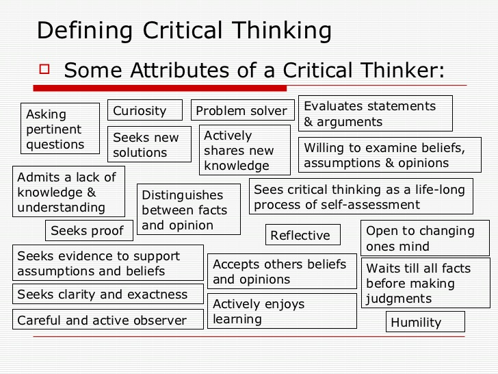 what are some techniques for critical thinking In conclusion, i hope that teachers are able to use this article and some of the techniques i have suggested as a starting point for the development of critical thinking in their own classes i believe and hope that teachers will find their efforts in this regard to be both personally and professionally rewarding.